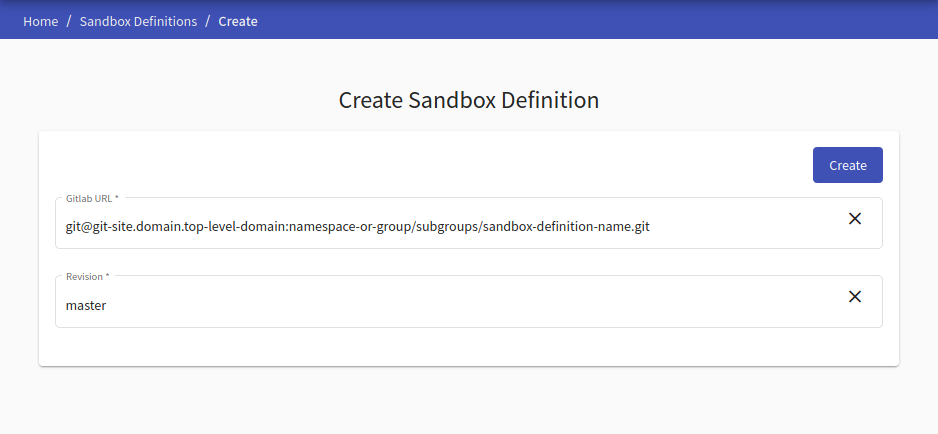 create-sandbox-definition